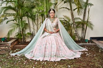 Pink and light green anita dongre lehenga
