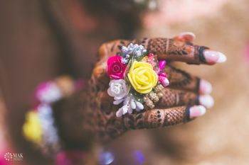 Floral jewellery ring for mehendi