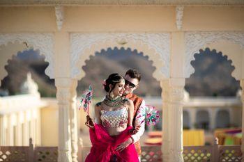 Fort wedding mehendi couple shot