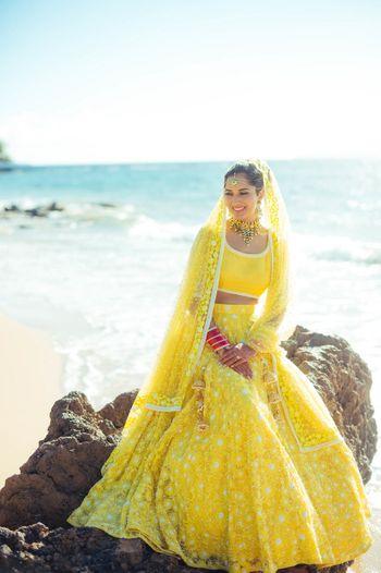 Offbeat bridal colour lehenga yellow