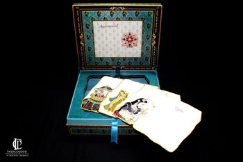 Turquoise Invitation Card with Box