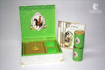 Wedding Invitation Box with Rajasthani Theme and Cans