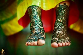 Bridal Feet Mehendi Shot