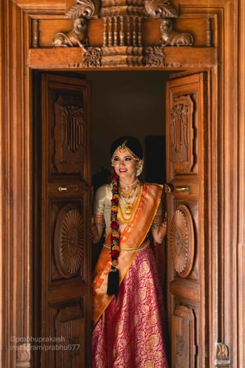Photo of A south Indian bride portrait shot