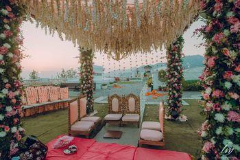 A beautiful floral Mandap decor.