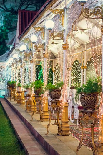 Outdoor Decor with Fairy Lights and Bulbs