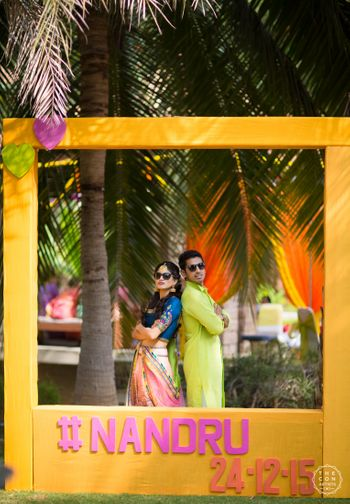 Photobooth frame at Indian wedding