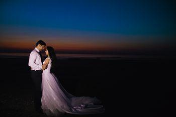 Romantic Couple Wedding Shot