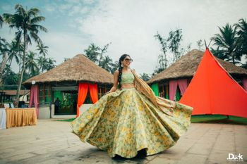 Sister of the bride outfit floral print lehenga