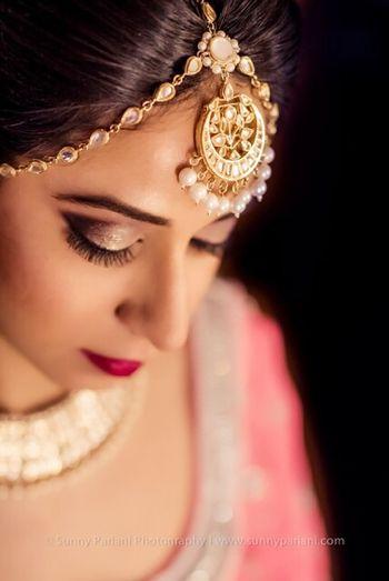 Gold Shaded Bridal Eye Makeup