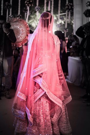Photo of Back of The Lehenga Bridal Shot