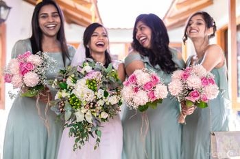 A fun and full of happiness Christian bride with bridesmaids!