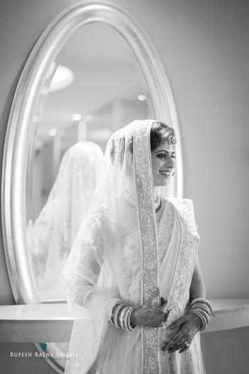 Monochrome Bridal Portrait