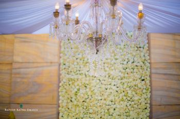 Yellow and White Floral Backdrop