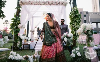 An offbeat bridal lehenga