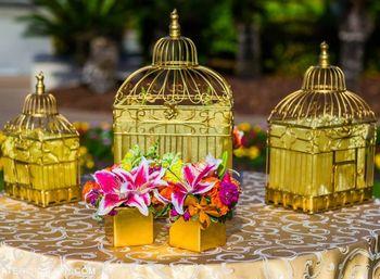 gold birdcages