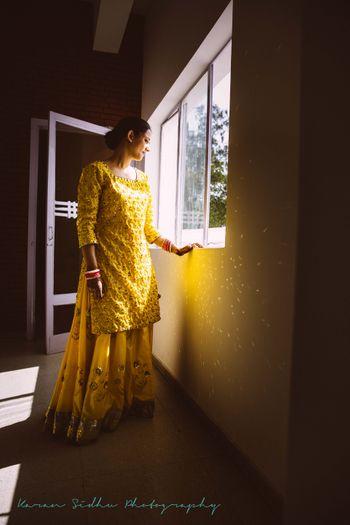 Yellow and Gold Sharara