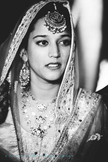 Black and White Shikh Bride Portrait