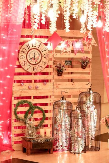 Personalised Decor with Florals Birdcages and Lights
