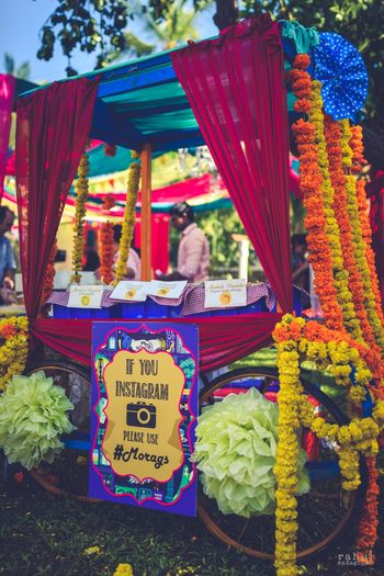 Wedding hashtag idea for south Indian wedding