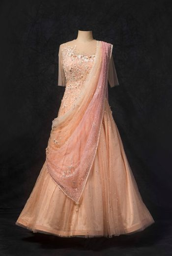 Photo of Peach embroidered gown