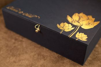 Photo of Lotus motif invitation card