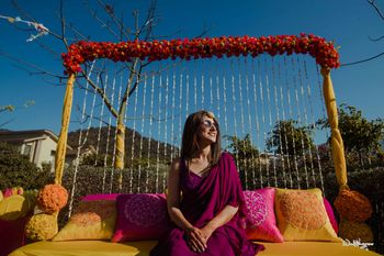 Photo of stunning bridal portrait on haldi