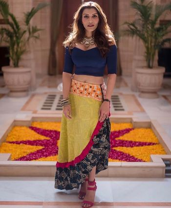 Photo of A high low silhouette outfit for a laid back mehndi