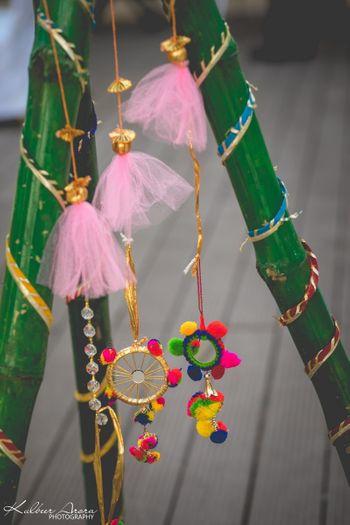 Gota tassels in decor for mehendi