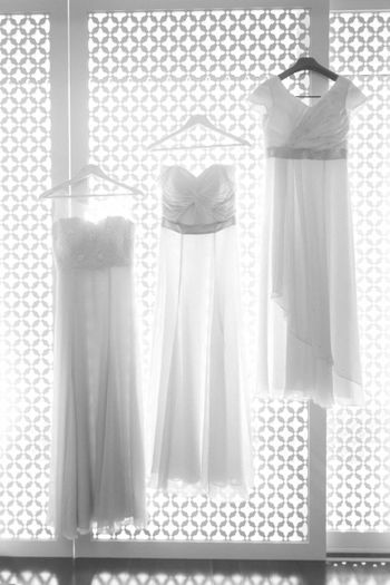 Christian Gowns on a Hanger Shot