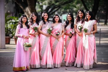 Photo of Coordinated bridesmaid outfits