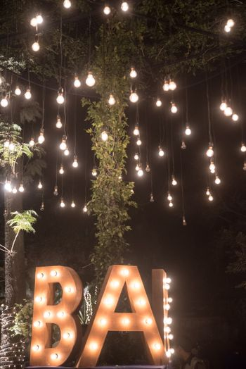 Photo of Bar signage in bulbs
