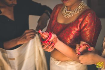 Bride Wearing Bangles Shot