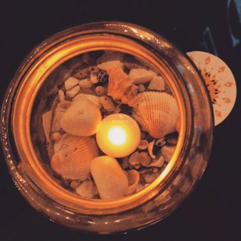 Photo of Shells and Candles Decor