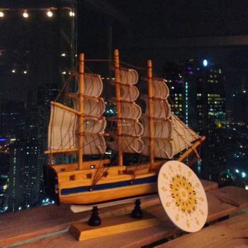 Wooden Ship Props Decor