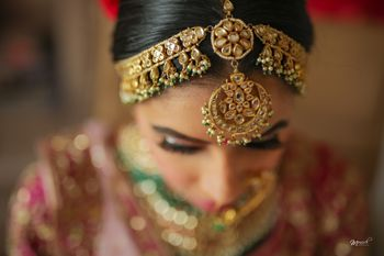 bridal mathapatti in gold