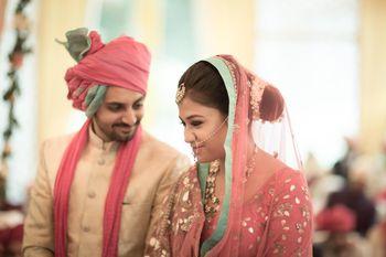 Photo of Pastel Pink Couple Shot