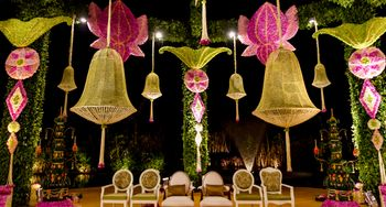 Photo of Green and Pink Hanging Lotus Decor