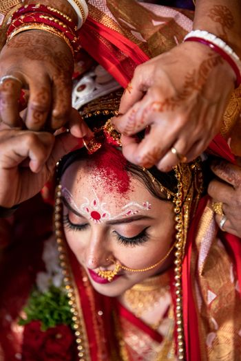 bengali bridal portrait