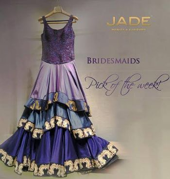 Photo of purple layered gown