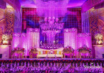 Purple stage decor
