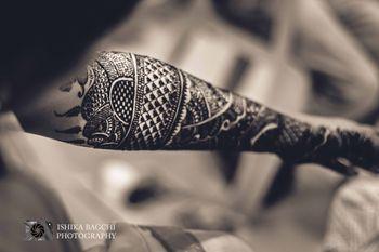 Black and White Hand Mehendi Design
