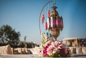 Moroccan table centerpiece