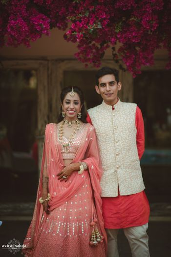 Bridal and groom outfits