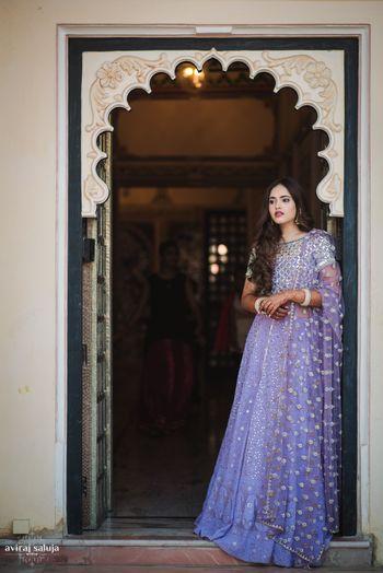 Pastel lehenga for bride to be