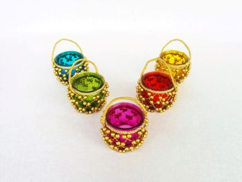 Colorful Mehendi favors tealight holders