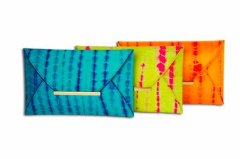 Tye Dye clutch bags