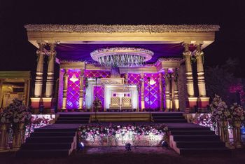 Glamorous wedding stage