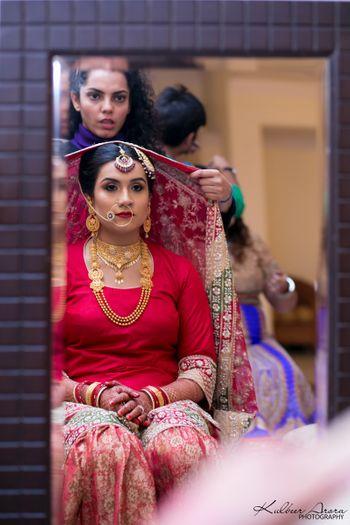 Muslim Bride Getting Ready Shot