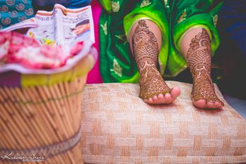 Birdal feet Mehendi Photography